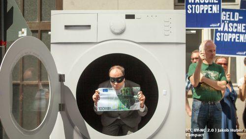 Bei Geldwäsche im Immobilien-Bereich wird das Geld häufig vorgewaschen und durchläuft verschiedene